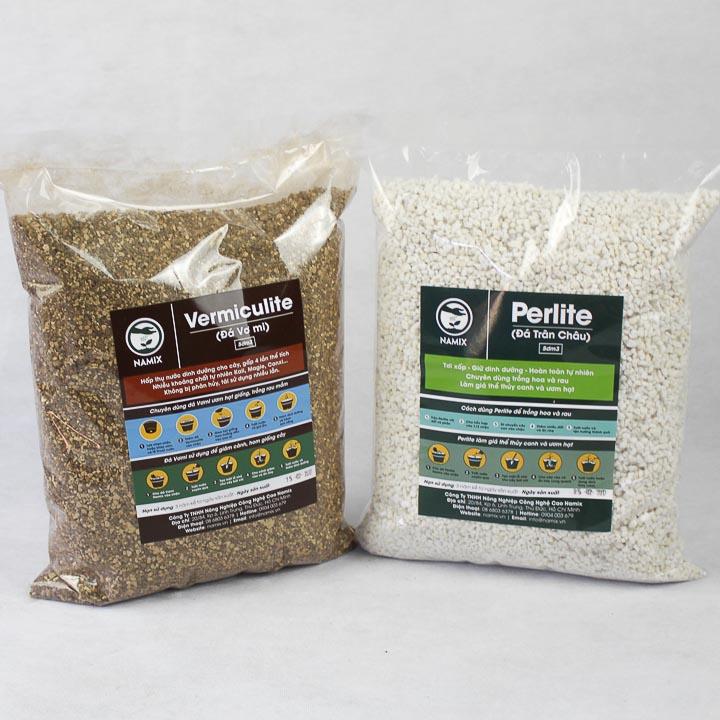 Đá Perlite và Vermiculite trồng cây ươm giống