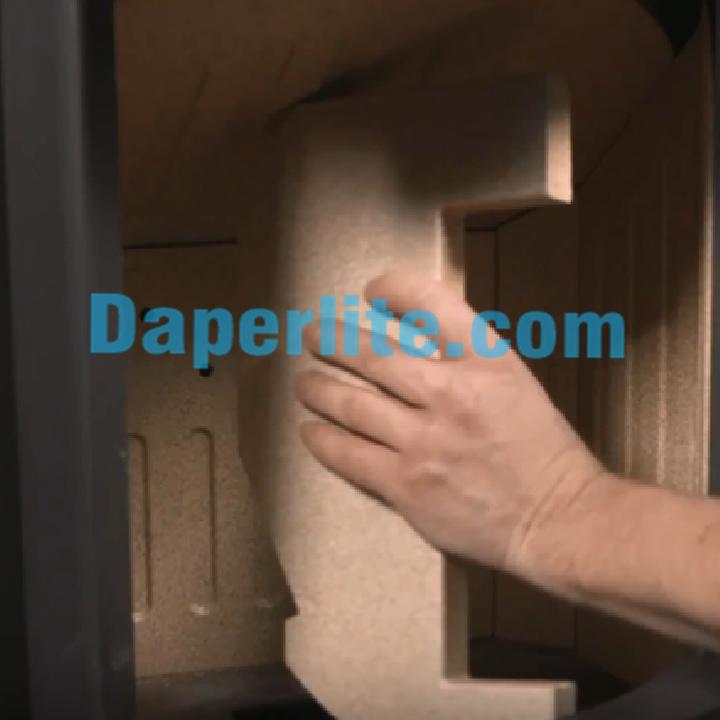 Đá Vermiculite làm tấm cách nhiệt trong lò sưởi mở