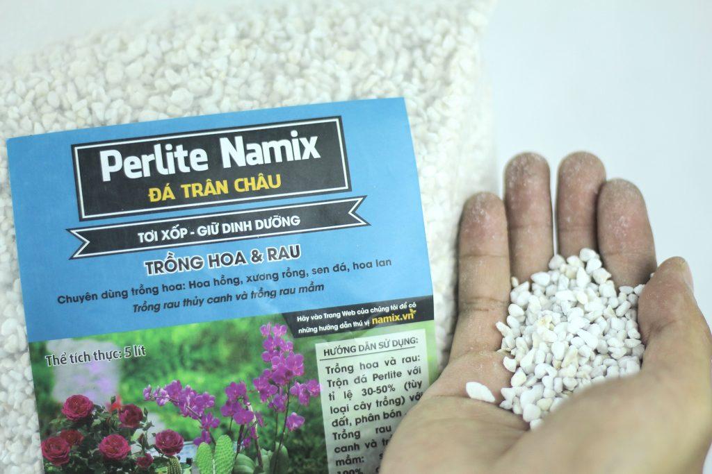 Đá Perlite trân châu hạt trắng cung cấp khả năng thoát nước tốt cho sen đá
