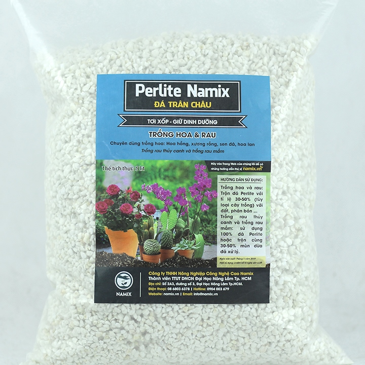 Giá thể đá Perlite trân châu Namix