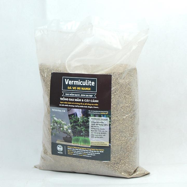 Đá Vermiculite đóng gói Namix túi nhỏ 5dm3
