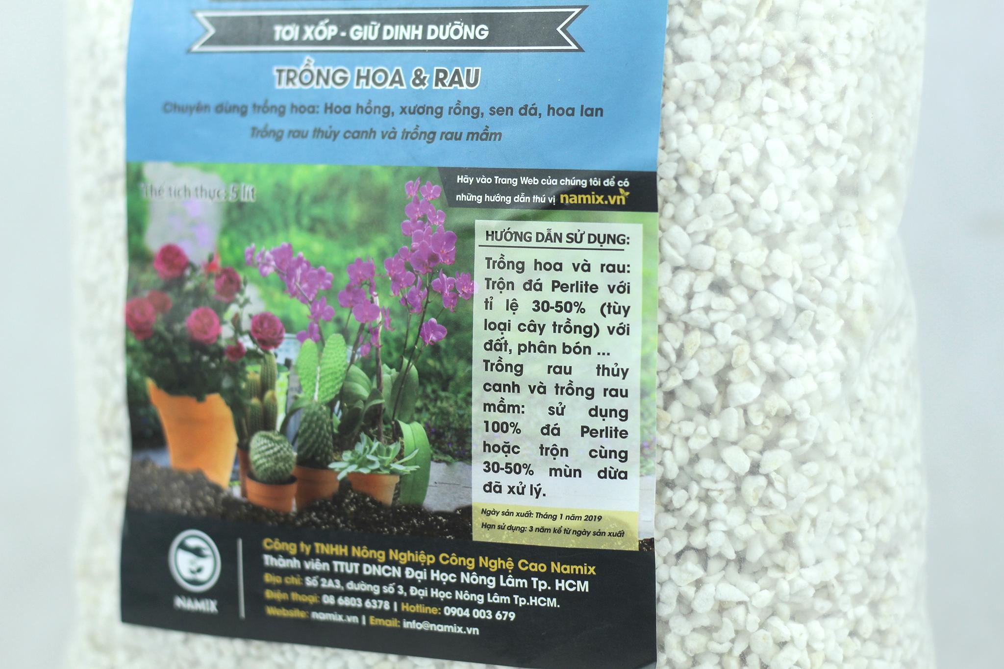 Đá Perlite Namix trồng sen đá giúp đất thoát nước tốt