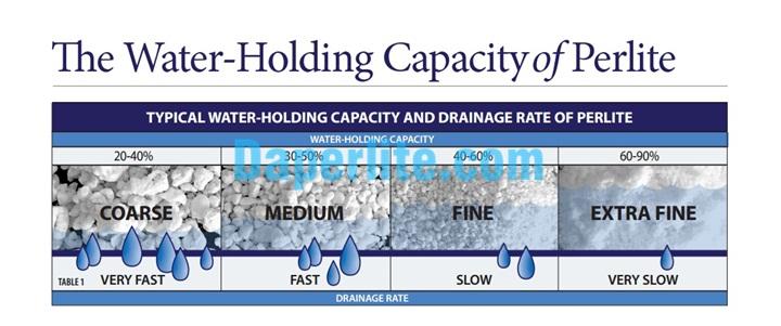 Khả năng giữ nước của đá Perlite Trân châu