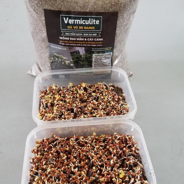 Đá Vermiculite Namix. Giá thể trồng rau mầm