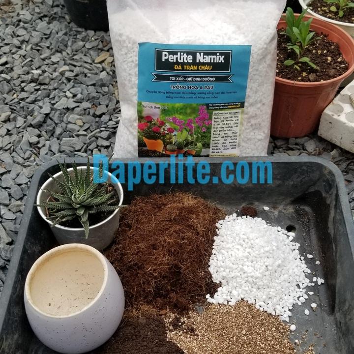Đá perlite Namix , đá Vermiculite namix trồng sen đá